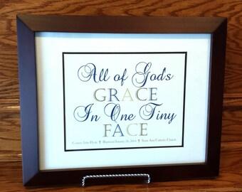 Boy Baptism Gift - Christening Gift - Personalized Baptism Gift - Baptism gift for Godchild - Religious Art - Christian art for Baby Boy
