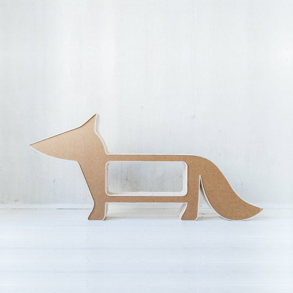 Foxy Cardboard Bookshelf