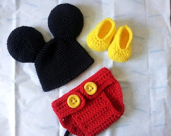 Crochet Baby Mickey Mouse Costume