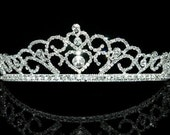 Exquisite Bridal Queen Heart Rhinestone Crystal Tiara (489)