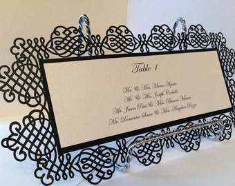 Laser cut place cards, Table seating cards, Laser cut cards, Vintage place cards, Original place seating cards, Table cards, Pack of 10