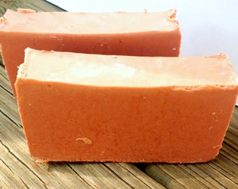 All Natural Soap - Unscented - Dark Red Brazilian Clay Soap - Vegan Soap