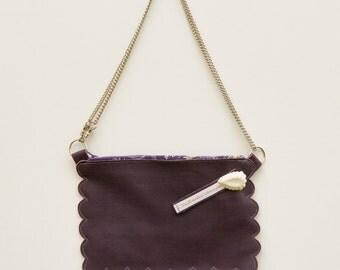 Crossbody purple leather bag, small shoulder bag, weeding bag, design bag