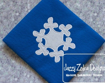 Snow Flake Appliqué embroider Design - snowflake Appliqué Design - snow Appliqué Design - winter Appliqué Design - snow flake Applique