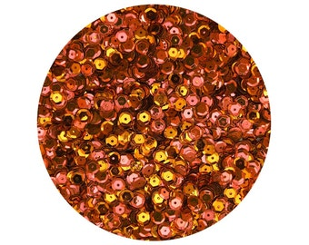 6mm Cup Sequins Facet Paillettes Fluorescent Hot Pink and Orange Metallic