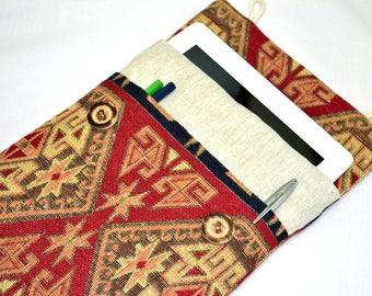Kindle paperwhite cover, ipad mini case, kindle oasis case, Kindle Fire HD, Kindle PaperWhite  Padded ereader Cover, ipad mini 4 case- Kilim