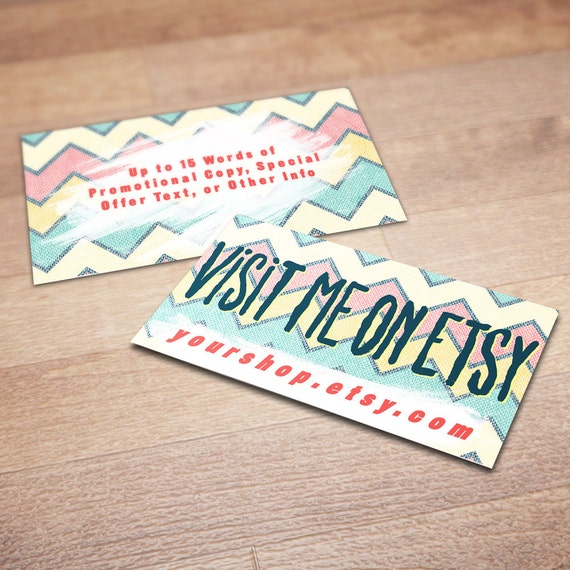 Lovely 100 Custom Business Cards for Promoting Your Etsy Shop ES34