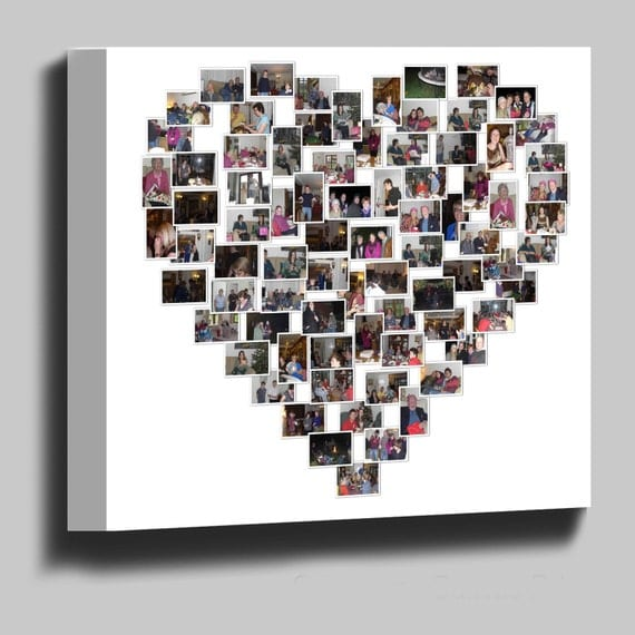 Heart Photo Collage Frame Heart Photo Collage Painting