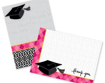 Graduation Thank You Notes, Note Cards, Thank You, Thank You Cards, Graduation, Graduation Stationery, Stationery, Notes, Paper Goods