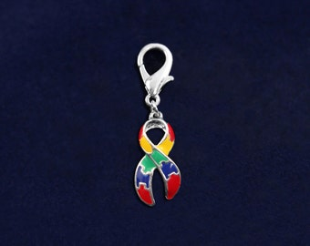 Large Autism Ribbon Hanging Charm (RE-HCHARM-01-2)