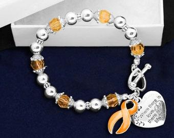 Orange Ribbon Bracelet - Where There Is Love (RE-B-01-5)
