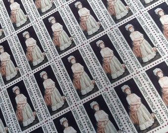 US Postage Stamps, Unused, 5 Cent stamps, John Copley Art Stamps from the 1960's Full Sheet of 50