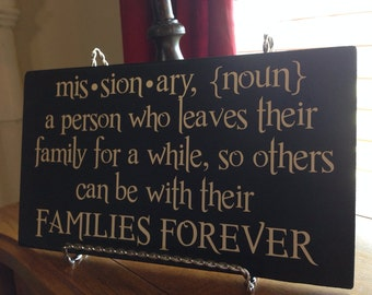 Missionary Definition plaque