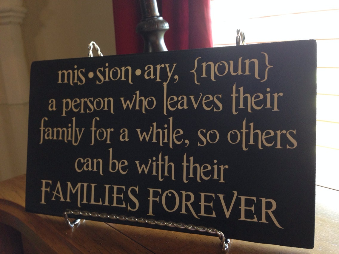 Missionary definition plaque - Plaque de finition ...