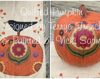 Quilted Pumpkin by Vicki Saum,  Painting With Friends E Pattern