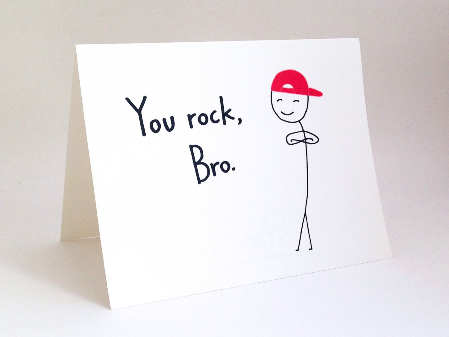 Funny Brother Birthday Card Humorous Friend Thank You Card – Thanks for Birthday Card