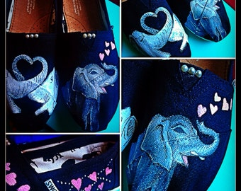 Custom painted Elephant Toms. Designed and personalized just for you!