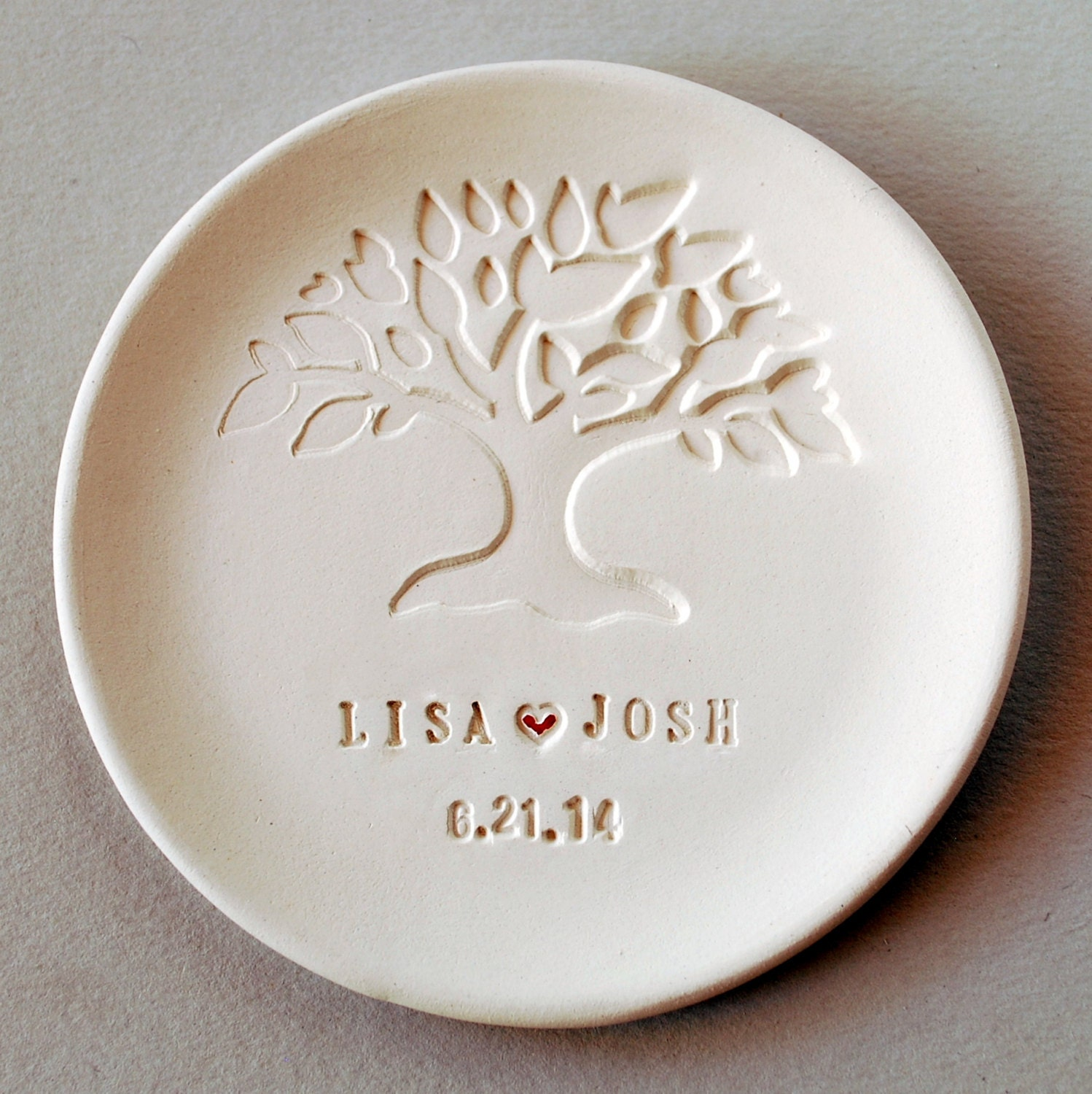 Fall Woodland Wedding Favors Ring Dish Personalized
