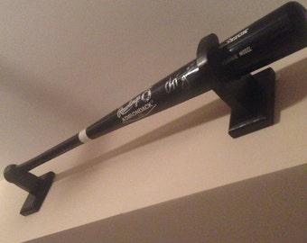 custom black baseball bat display brackets