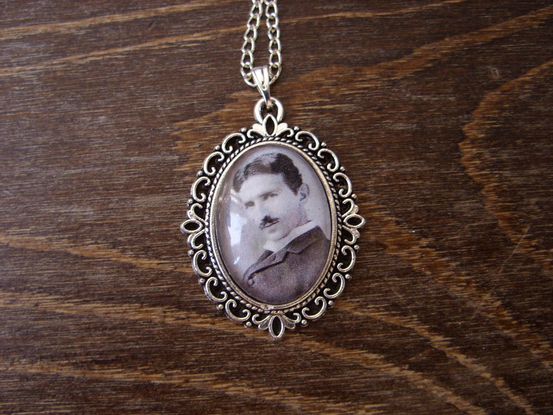 Nikola Tesla pendant tesla necklace tesla jewelry by ...