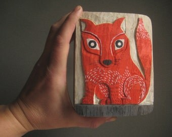 original FOX RELIEF in WOOD oak