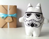 Star Wars Stormtrooper Geekery Toy. Cat Star Wars Funny Plush Toy. Star Wars White Kitty Stormtrooper. Science Fiction Cat Toy.