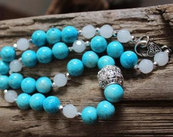 Rhinestone Barrel Bead Necklace