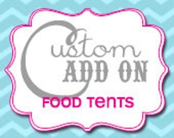 Matching Food / Menu Tents - Printable