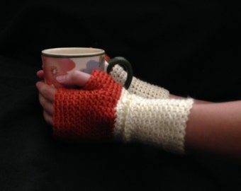Fingerless Gloves for Women - two-toned