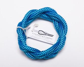 rope bracelet, macrame bracelet, infinity bracelet, wrap bracelet, rope bangle, blue bracelet, macrame bangle, infinity bangle