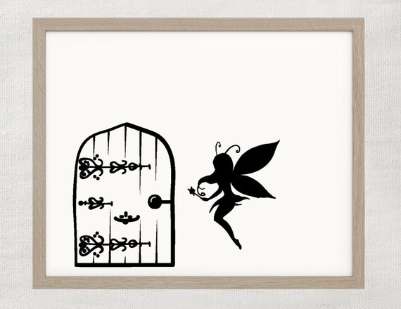 Fairy door wall decal for Fairy door for wall