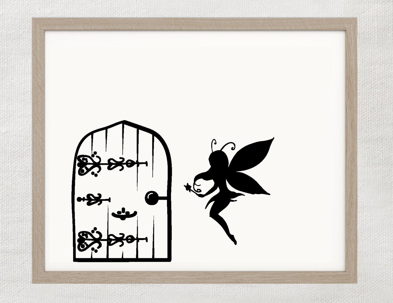 Fairy door wall decal for Fairy door wall art