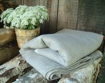 """Natural Linen Tablecloth; Gray Tablecloth; 56"""" / 80"""" / 100"""" Minimalist Table Cover; Rustic Grey Table Cloth; Burlap Ecru Linen Tablecloth"""