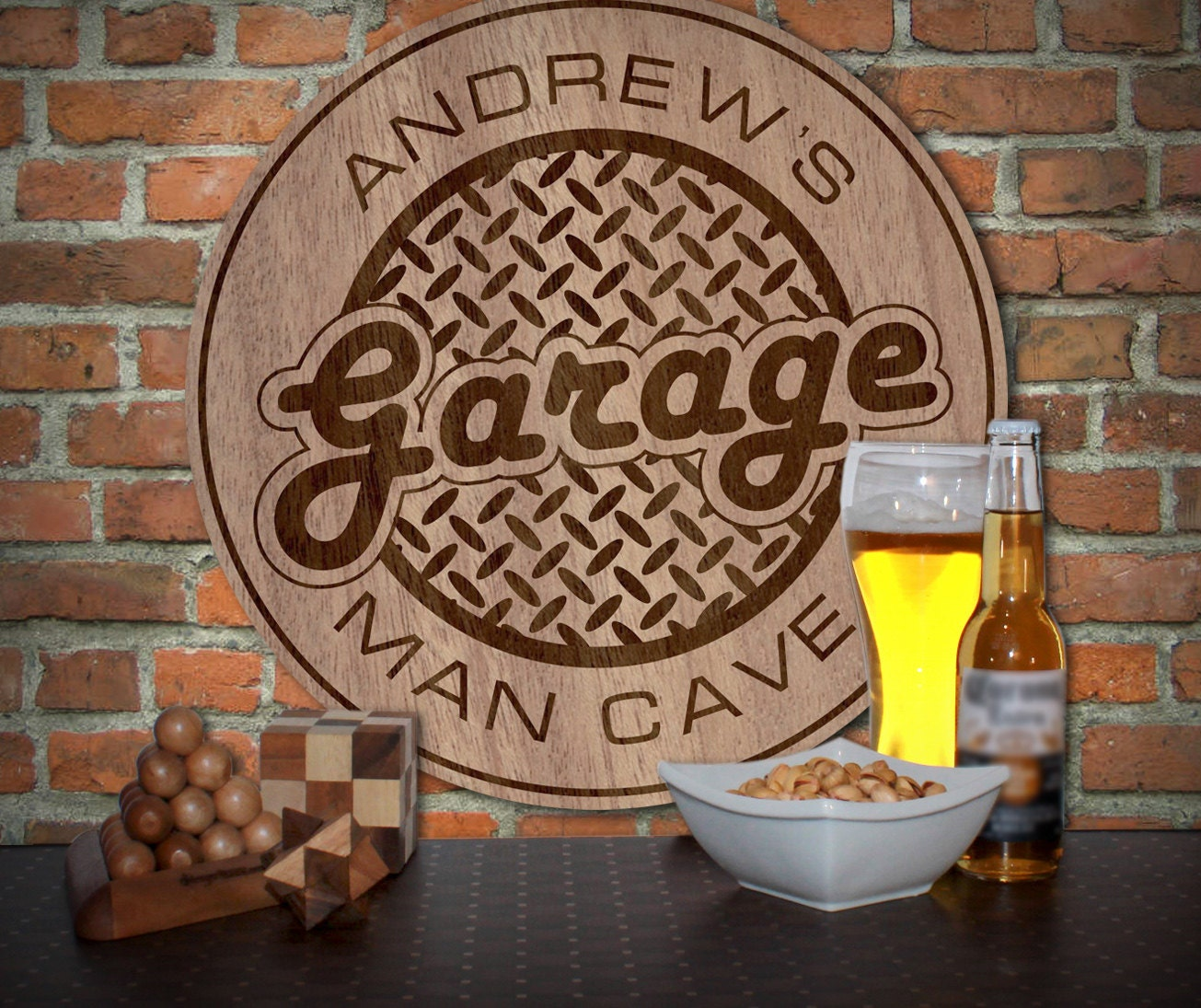 Man Cave Garage Signs : Personalized garage man cave sign by engravebylaser on etsy