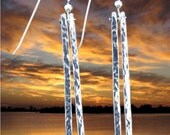 Silver Hammered Bar Earrings - Saint Michaels Jewelry