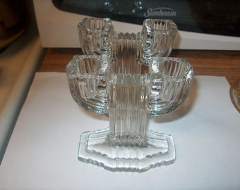Vintage Glass Candleholders, Cautus, WAS 25.00 - 50% = 12.50
