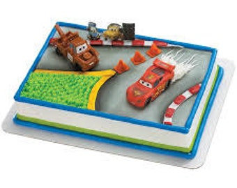 Disney Cars world grand prix Cake Topper Birthday Party Supplies toys movie decorations Lightning mcqueen tow mater