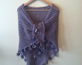 Dusty lilac embellished shawl
