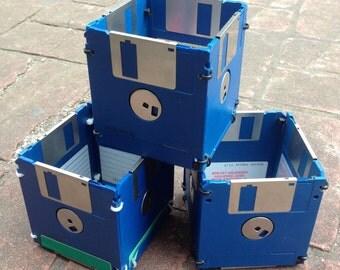 Upcycled Floppy disc Pen Pots *colour choice* AsBeAu