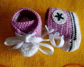 baby booties - converse style double sole