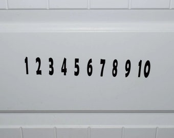 1 - 10 Numbers Vinyl Decal Decor For Kids Rooms, schools, or playroom aprox 1.5 inches