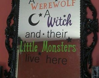 Halloween Mirror Wall Decoration Made to Order
