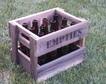 Wooden Crate - Personalized - Homebrew Storage - Beer Crate for 12 Bottles