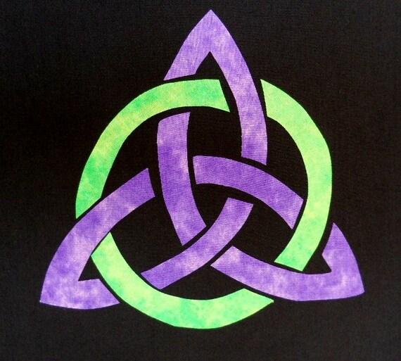 Easy Celtic Triquetra Quilt Applique Pattern Design