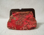 Vintage Chinese Change Purse, Small red change purse - RoseThrones