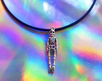 Skeleton Choker / Halloween Choker