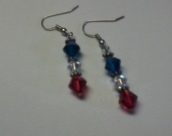 Fourth of July earings