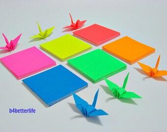 "240 sheets of origami Cranes DIY Paper Folding Kit, size 2""x2"". (Luminous Paper Series)."