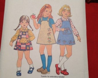 Simplicity 7605 Girls Jumper and Shirt Size 4