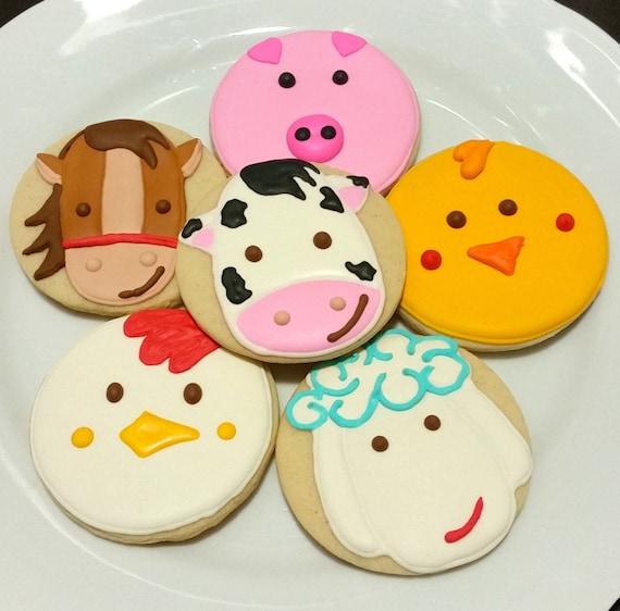 Custom Decorated Gourm... Round Birthday Sugar Cookies